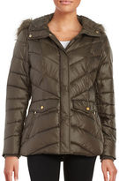Jones New York Faux Fur-Trimmed Puffer Coat