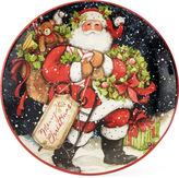 Certified International Snowy Santa Set of 4 Dinner Plates
