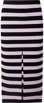 Proenza Schouler Striped Stretch-knit Midi Skirt - Black