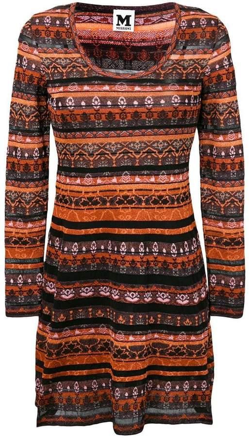 M Missoni striped knitted dress