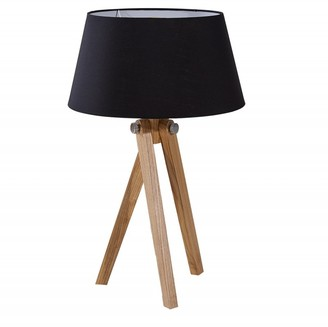 Invicta Table Lamp with Black Shade