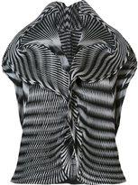 Issey Miyake short-sleeve origami blouse