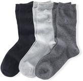 Polo Ralph Lauren Flat Knit Crew Sock 3-Pack