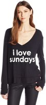 Peace Love World Women's I Love Sundays Comfy Cozy Sweatshirt