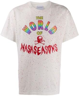 Nasaseasons rainbow logo print T-shirt