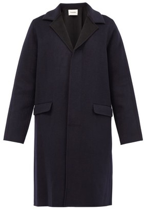 Nanushka Malick Single-breasted Wool-blend Coat - Black Navy
