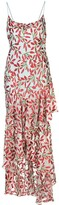 Alice + Olivia Leaf Print Long Dress