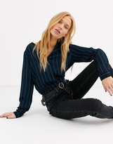 Selected pinstripe blouse