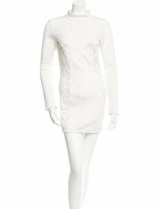 Anthony Vaccarello Cutout Cocktail Dress white