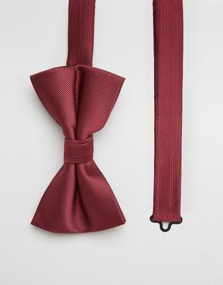 ASOS DESIGN bow tie in burgundy