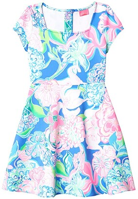 Lilly Pulitzer Arya Dress (Big Kids) (Multi Peony For Your Thoughts) Girl's Clothing