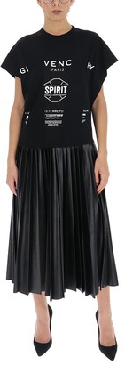 Givenchy Pleated T-Shirt Dress