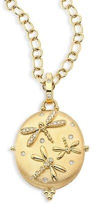 Temple St. Clair Diamond & 18K Yellow Gold Dragonfly Locket
