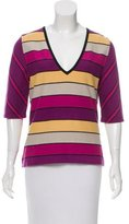 Sonia Rykiel Striped Knit Top