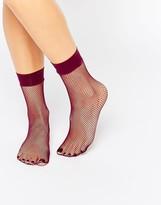 Asos Berry Fishnet Ankle Sock