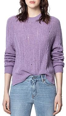 Zadig & Voltaire Lili Distressed Cashmere Sweater