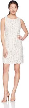 Jessica Howard Unknown Women's Petite Sleeveless Lace Shift Dress