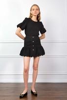 J.ING Black Beatrice Button Skirt