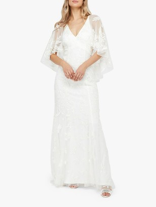 Monsoon Christabel Bridal Embellished Maxi Dress, Ivory