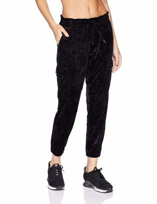 Betsey Johnson Women's Crushed Velvet Cargo Jogger