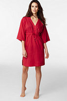 Classic Women's Mid-length Caftan Cover Up-Punch Schooner Stripe