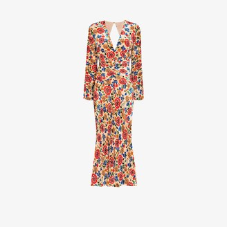 Rixo Mel floral print midi dress