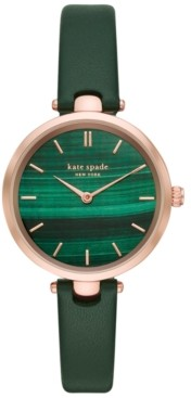 Kate Spade Women's Holland Black Leather Strap Watch 34mm