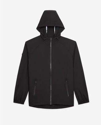 The Kooples Windbreaker black hooded jacket with logo