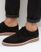 Asos Lace Up Shoes In Black Suede