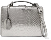 Mark Cross Grace Small Metallic Python Shoulder Bag - Gunmetal