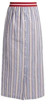 Stella Jean Nobile striped cotton-poplin maxi skirt