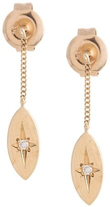Natalie Marie 9kt yellow gold Willow drop earrings