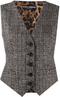 Dolce & Gabbana Single-Breasted Check Waistcoat