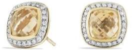 David Yurman Albion® Earrings With Champagne Citrine And Diamonds In