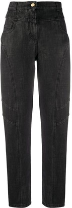 Alberta Ferretti High-Waisted Straight-Leg Jeans