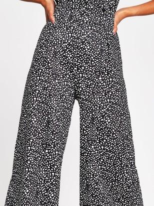 River Island Crinkle Jersey Culottes - Spot Print