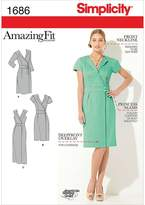 Simplicity 1686 Misses' and Miss Petite Amazing Fit Dress Sewing Pattern, Size U5 (16-18-20-22-24)