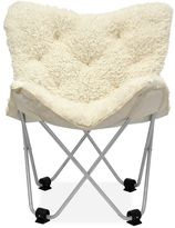 Urban Shop Amelia Mongolian Faux-Fur Butterfly Chair