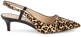 Sam Edelman Denia Leopard-Print Calf Hair Slingback Pumps