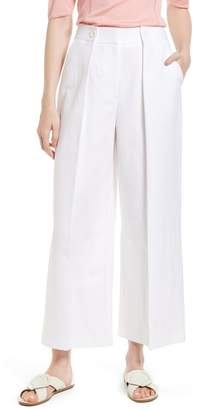 Lewit Pleated Wide Leg Linen Pants