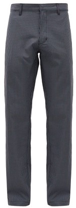 Noon Goons Crestline Micro Houndstooth-check Cotton Trousers - Mens - Navy