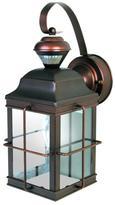 Heath Zenith New England Carriage 150 Degree Antique Bronze Motion Sensing Outdoor Lantern
