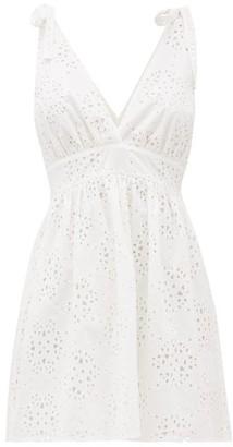 Sir - Celeste Broderie-anglaise Mini Dress - Womens - Ivory