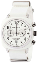 Briston Clubmaster Classic Chronograph with White Dial Watch, 40mm