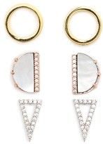 Topshop Women's Set Of Three Stud Earrings