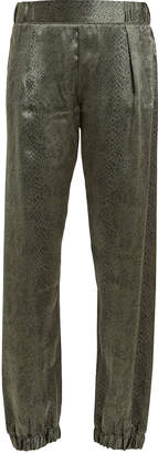 ATM Anthony Thomas Melillo Silk Python Joggers