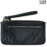 Aeropostale Womens Cape Juby Dual Zip Pocket Wristlet