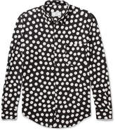 Ami Polka-Dot Voile Shirt