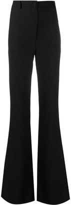 Hebe Studio Fitted-Flared Trousers