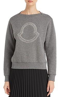 Moncler Embellished Logo Knit Sweater